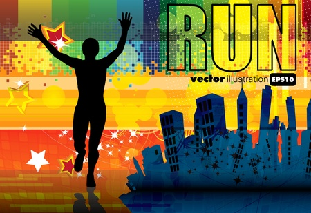 running: Sport illustration