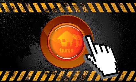 Web button home Stock Vector - 9633008