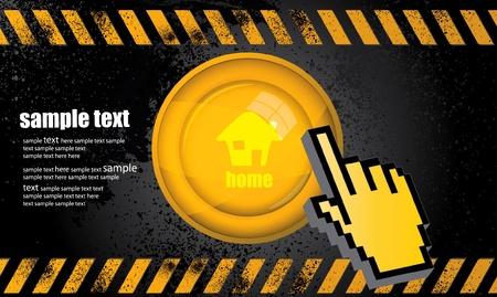 clic: Web button home