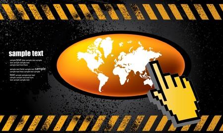 Web button world Stock Vector - 9633001