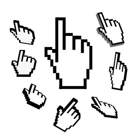clic: hand cursor