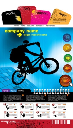 Web site design template, vector. Stock Vector - 9633995