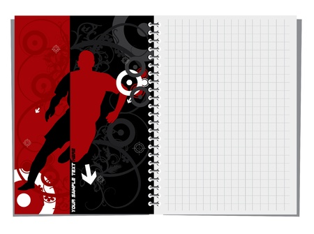 cuaderno espiral: Spiral notebook with abstract illustration
