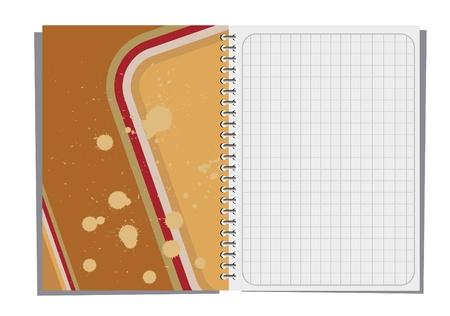 cuaderno espiral: Cuaderno de espiral con ilustraci�n abstracta