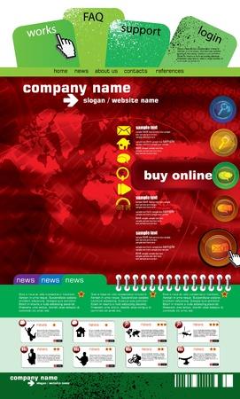 Web site design template, vector. Stock Vector - 9485988