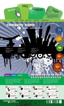 Web site design template Stock Vector - 9486033