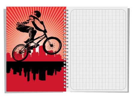 cuaderno espiral: Port�til de espiral en blanco con ilustraci�n