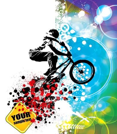 ciclista. Ilustración de vector
