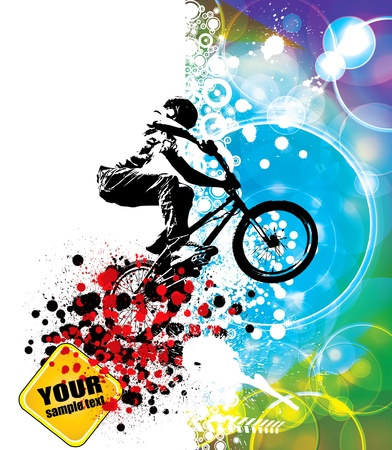 stunts: cyclist Illustration