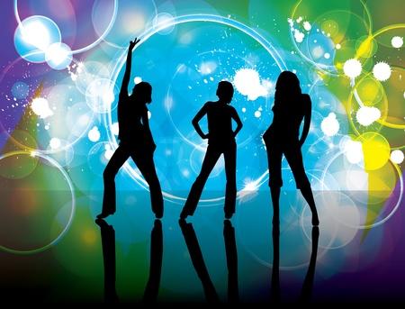 Dance background Stock Vector - 9486064
