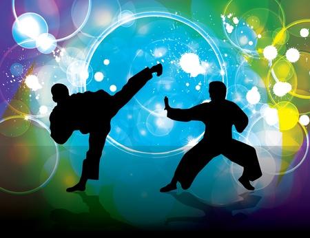 asian warrior: Karate poster Illustration