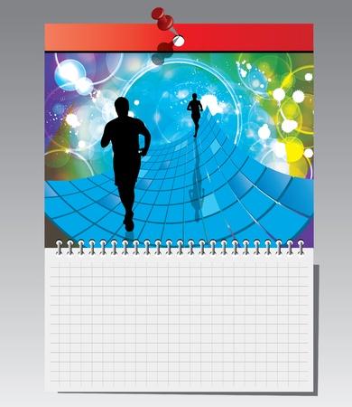 cuaderno espiral: Port?til de espiral con ilustraci?n