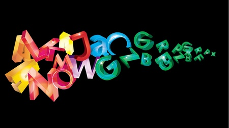 grope: illustration with rainbow letters Illustration