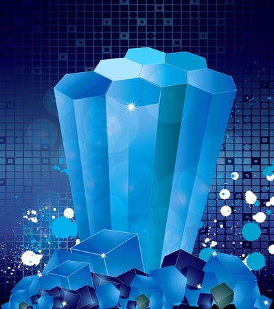 Abstract transparent blue background - vector illustration Vector