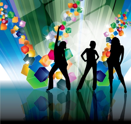 EPS10 party people vector background Stock Vector - 9557388