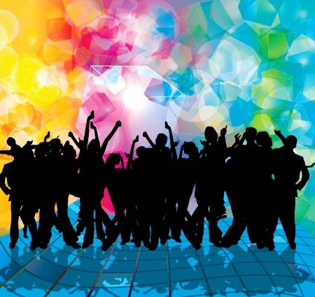 EPS10 party people vecteur arrière-plan