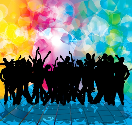 EPS10 party people vector background Stock Vector - 9557383
