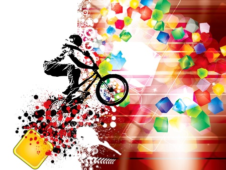 parallelepiped: image of cyclist Illustration
