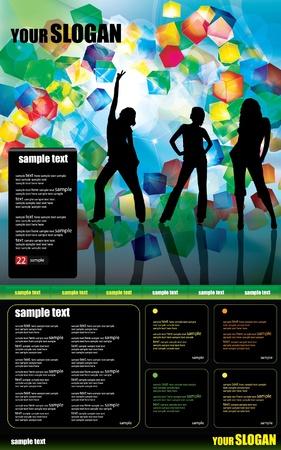 Web site design template Stock Vector - 9560168