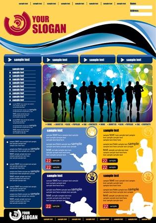 web portal: Web template