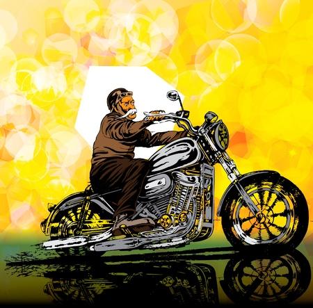 restoring: Motocycle retro vintage vector illustration