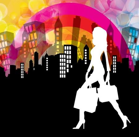shoe model: Woman shopping