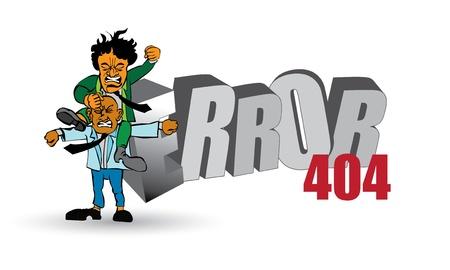 not found: 404 P?gina no encontrada. Ilustraciones de error listos para su sitio web.  Vectores