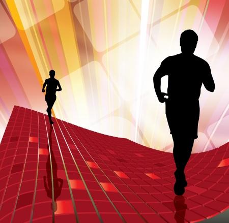 jogger: Sport vector illustration Illustration