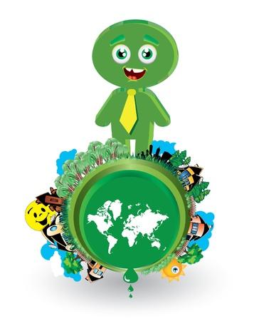 corporate social: Ecology concept