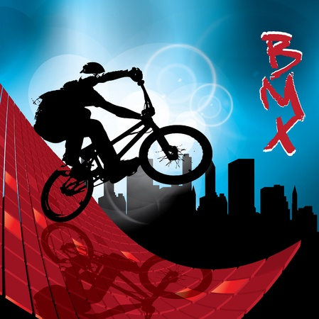 stunt: image of BMX cyclist