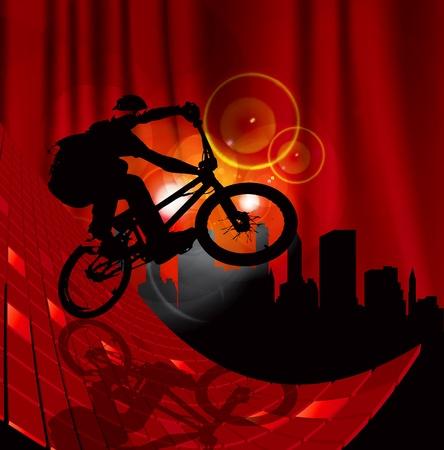vector image of BMX cyclist Vector