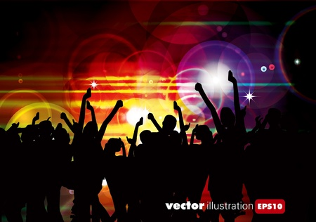 Party People Vector Background Stock Vector - 9657987