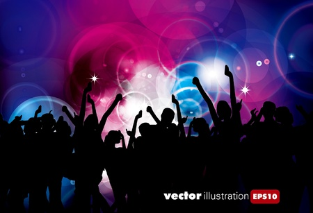 Party People Vector Background  Stock Vector - 9657991