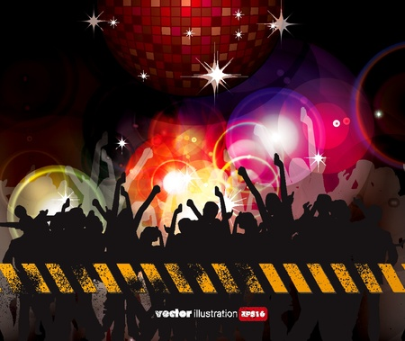 Party People Vector Background Stock Vector - 9657988