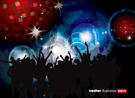 Party People Vector Background  Stock Vector - 9657989