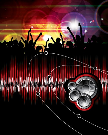 Music event background Stock Vector - 9868784