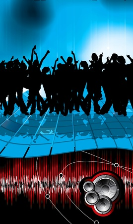 Large crowd of party people - vector background. Stock Vector - 9822577