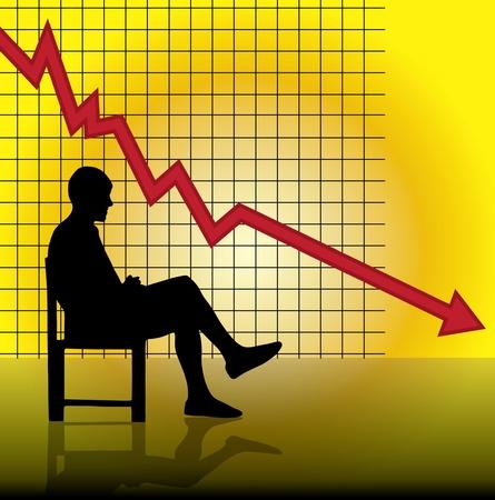 dept: Vector concept of financial crisis