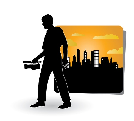 camara cine: Ilustraci�n del hombre con c�mara de video movie
