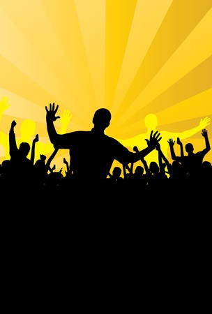 People dancing background party  Stock Vector - 9822600