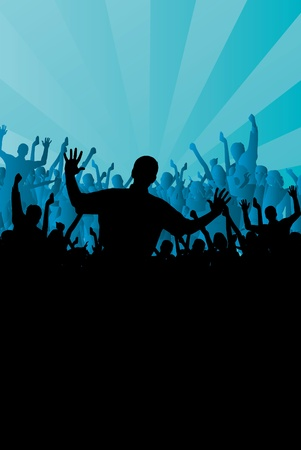 People dancing background party Stock Vector - 9822604