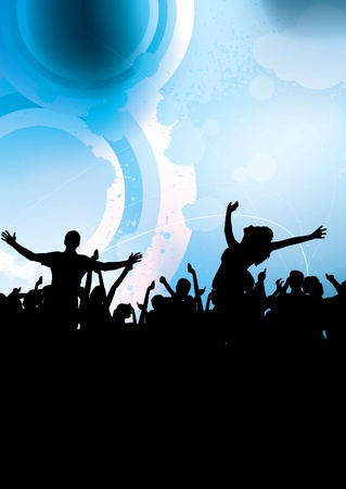 People dancing background party Stock Vector - 9822628