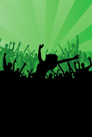 People dancing background party Stock Vector - 9822602