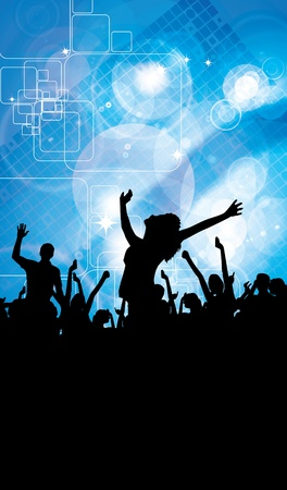 Party People Vector Background  Stock Vector - 9819921