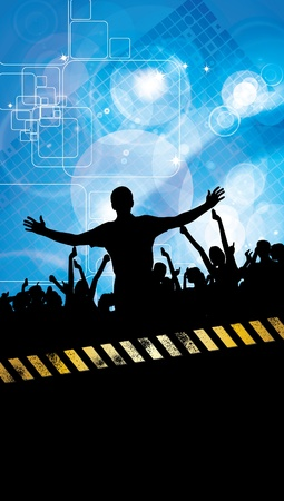 Party People Vector Background Stock Vector - 9819913