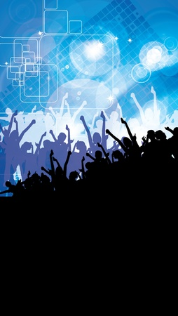 Party People Vector Background  Stock Vector - 9817142