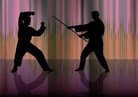 Karate warriors Stock Vector - 9817123