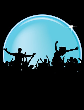 Party People Vector Background  Vector