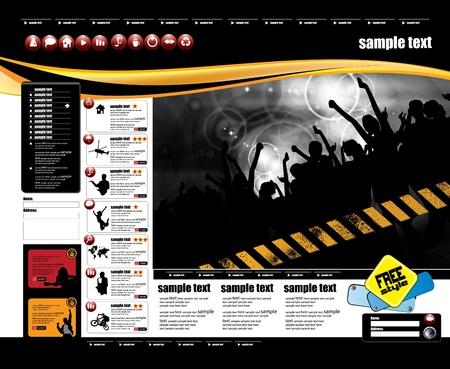 Web layout Stock Vector - 9819922