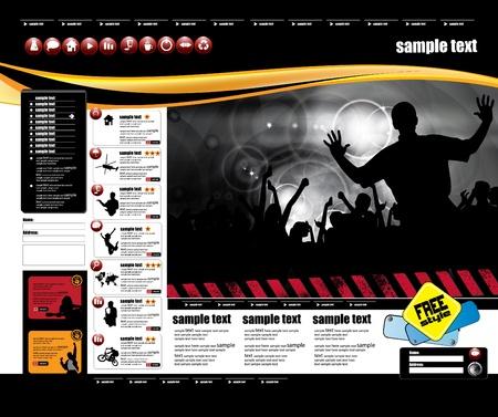 Web layout Stock Vector - 9819920